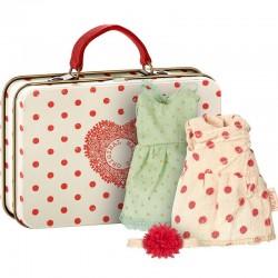 Maileg - valise avec habits de poupée micro
