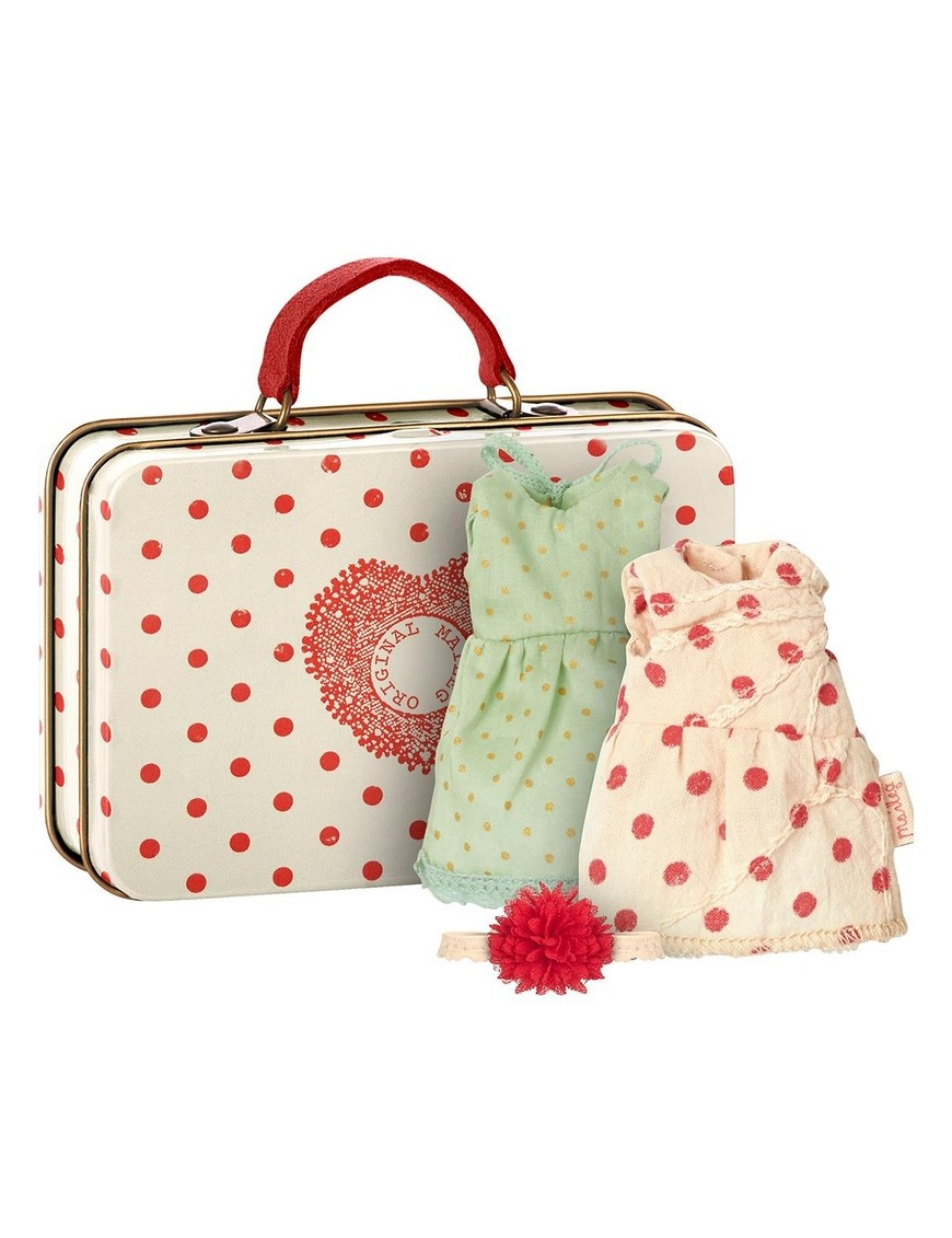 Maileg - Suitcase with 2 sets of clothes