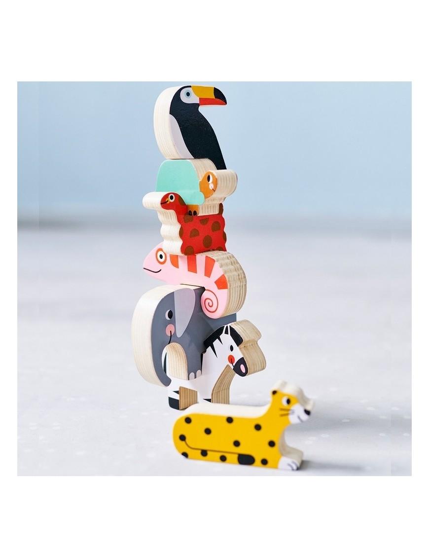 Wooden jungle stacker - Petit Monkey