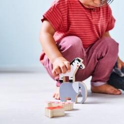 jouet bébé à empiler en bois