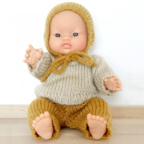 Asian baby boy doll : wooly set