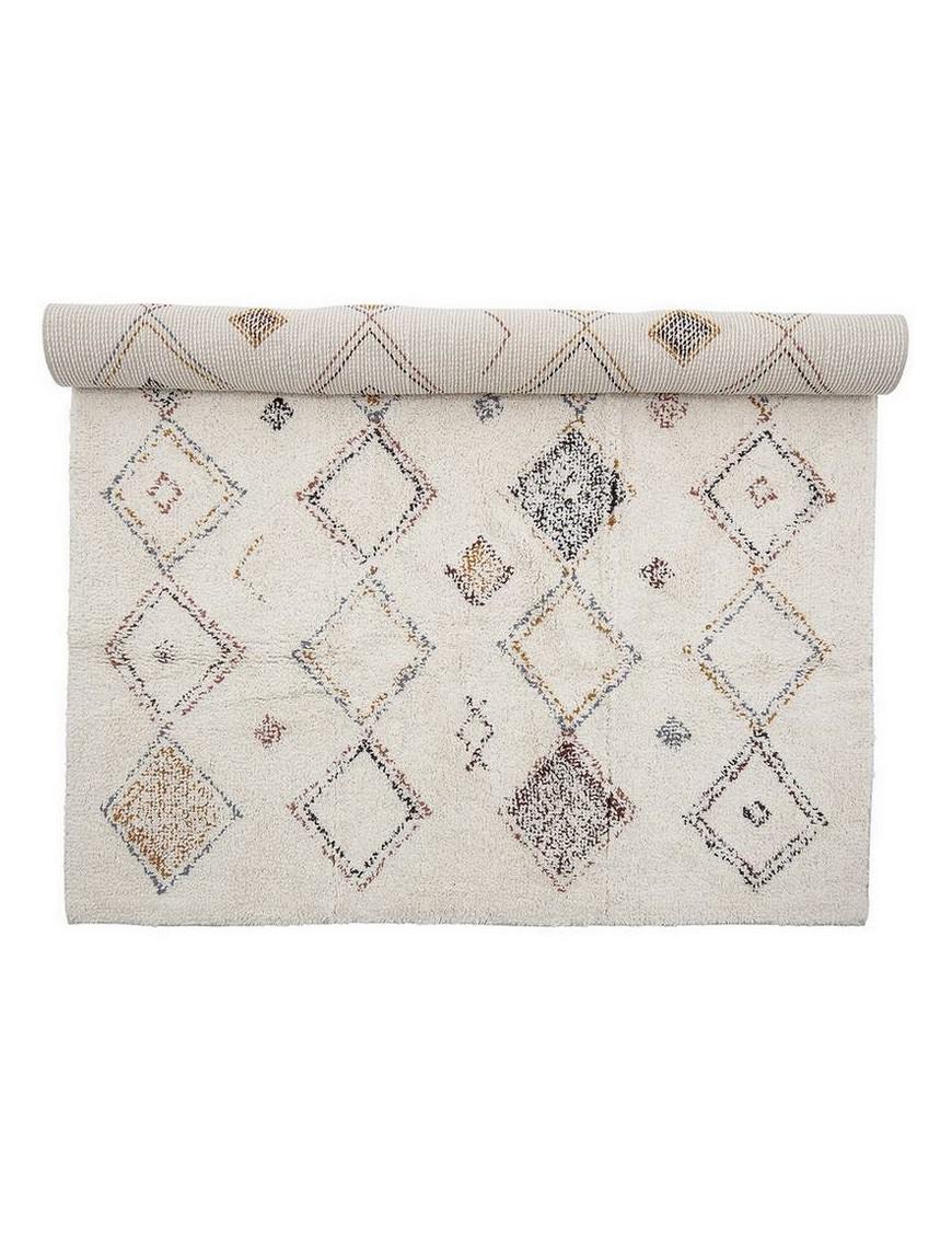 Bloomingville - multi-color cotton rug (180x120cm)