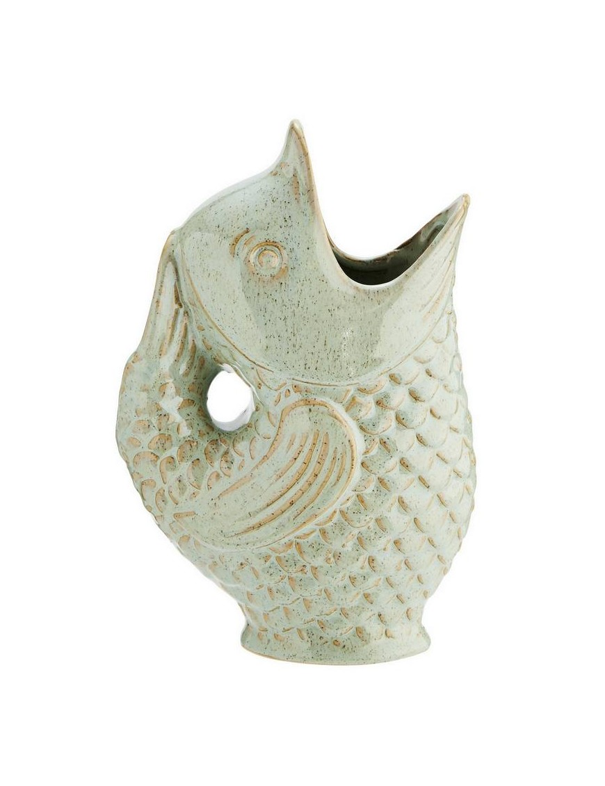 Madam Stoltz fish vase, light green