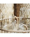 Pichet à eau en verre avec poignée bambou