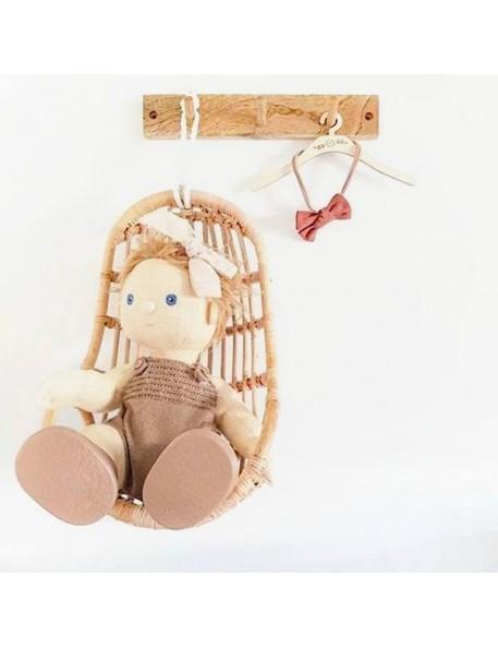 Fauteuil suspendu en rotin pour poupée