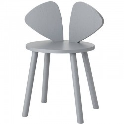 Nofred mouse table school, grey (6-10y)