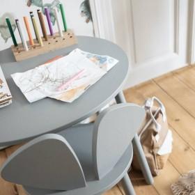 "Table ""Mouse school"" grise (6-10ans)"