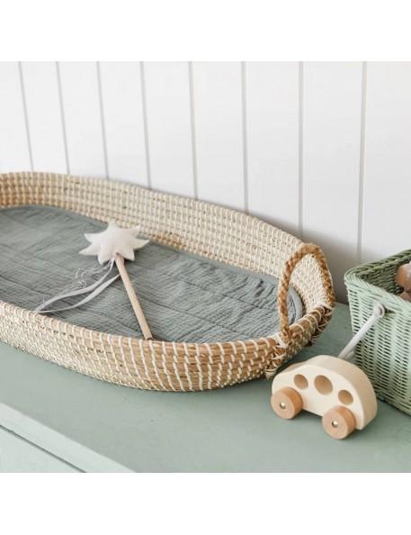 Olli Ella lux organic cotton liner - sage