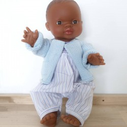 African baby boy doll : wooly set