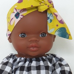 African baby girl doll : dress & headband