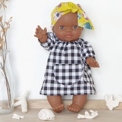 "Poupon fille africaine ""Gordi"" : robe & bandeau"