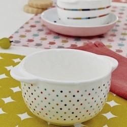 Bandjo stonware bowl with dots