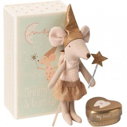 Maileg tooth fairy mouse in a box: girl