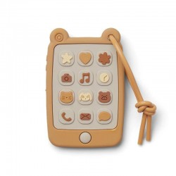 Liewood mobile phone teether, mustard