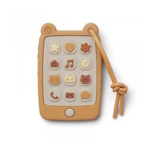 Liewood mobile phone teether, mustard