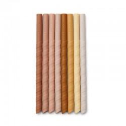 Liewood pailles en silicone rose multi mix (x8)