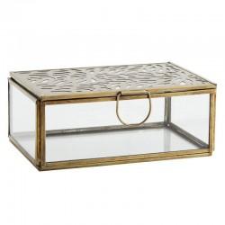 Boîte rectangulaire en verre & laiton Madam Stoltz