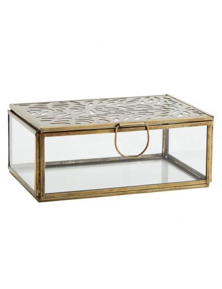 Rectangular glass box with carvings Madam Stoltz