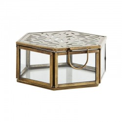Hexagonal glass box with...