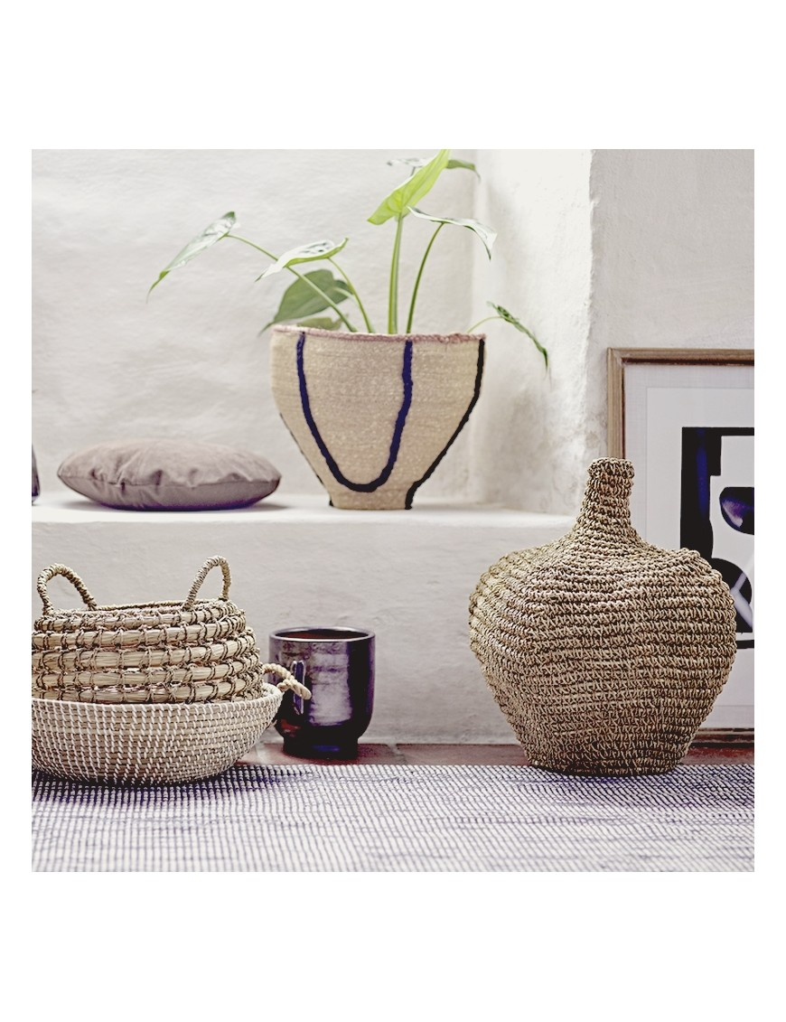 Deco basket Bloomingville, nature, banana leaf