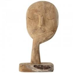 Sculpture visage bois Bloomingville