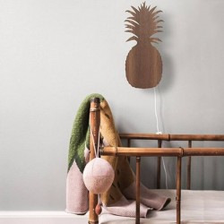 ferm living pineapple lamp - smoked oak