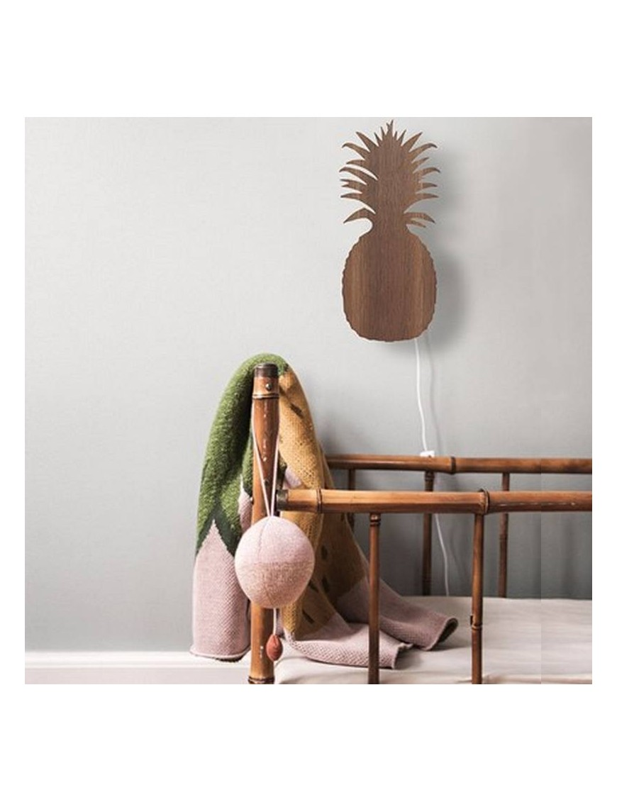 ferm living pineapple lamp - smoked oak