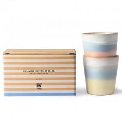 HK Living suites special: ceramic 70's mugs horizon (x2)