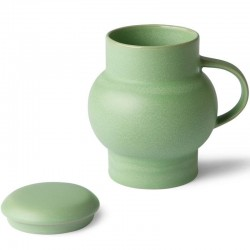 ceramic bubble tea mug l mint green