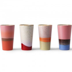 HK Living latte mug (x4) céramique 70'