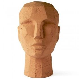 HK living abstract head sculpture terracotta