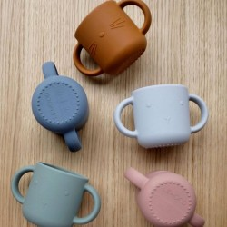 "Liewood tasses bébé silicone, ""Gene"" rabbit blue (x2)"