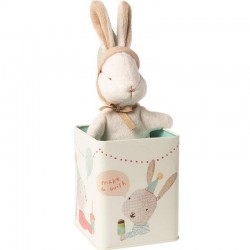 "Peluche lapin Maileg ""happy day bunny in box"""