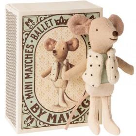 "Maileg souris little brother ""dancer in matchbox"""