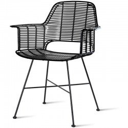 "Chaise HK Living ""outdoor tub chair black"""