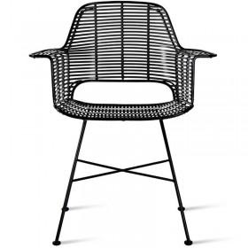 "Chaise HK Living ""outdoor tub chair black"""