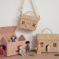 """Panier """"casa bag"""", rose Olli Ella"""