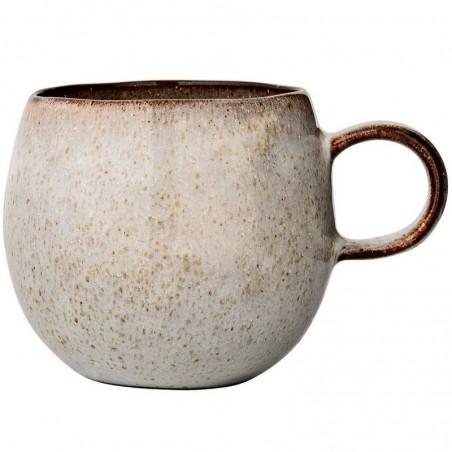 """Bloomingville mug """"Sandrine"""" en grès gris, Ø10,5cm"""
