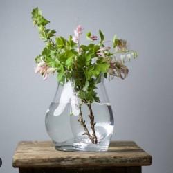 HK living glass bum vase