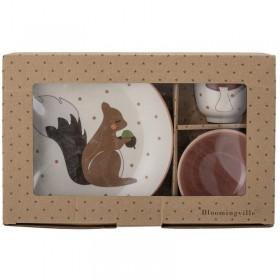 Coffret vaisselle écureuil Bloomingville mini