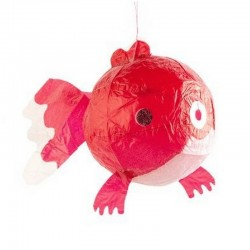 Kamifusen - Ballon en Papier Japonais - Poisson rouge