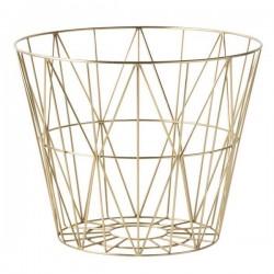 "FERM living panier corbeille laiton ""wire basket"""