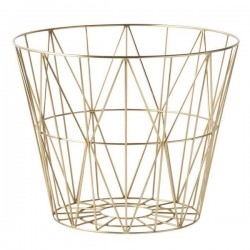 ferm living wire basket brass - small