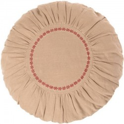 Coussin rond en lin, sable, large - Maileg