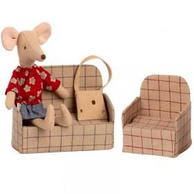 Maileg canapé souris / maison gingerbread