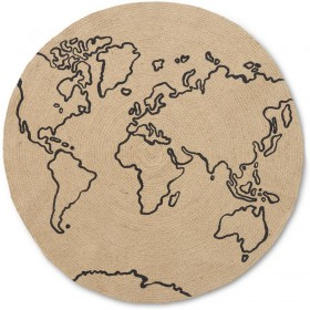 Ferm living tapis rond jute world, small