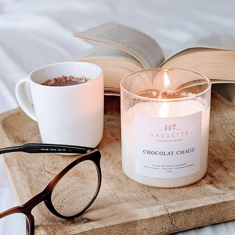 Bougie parfumée chocolat chaud - Saugette