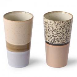 HK Living latte mug (x2) céramique 70'