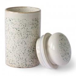 Bocal hermétique en céramique vert/blanc HK Living