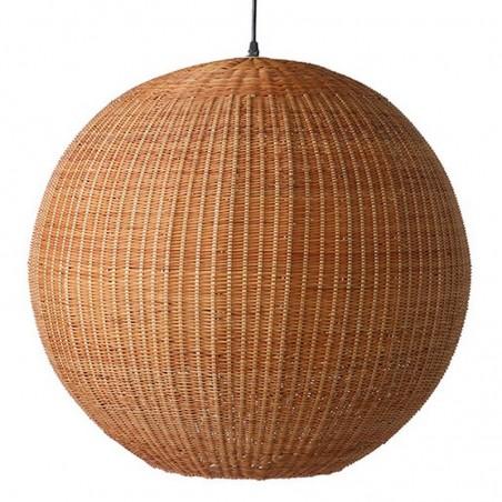 HK Living bamboo pendant ball lamp 60cm